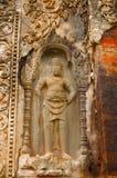 Dvarapala, chiffre de gardien, temple de Prasat Preah Ko, Roluos, Siem Reap, Cambodge vers le 9ème siècle en retard Photos stock