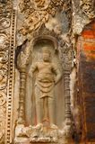 Dvarapala, guardian figure, Prasat Preah Ko temple, Roluos, Siem Reap, Cambodia Circa Late 9th century Stock Photos