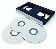 DVD和录影6 免版税库存照片