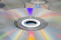 DVD和CD的背景。 库存图片