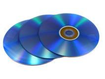 DVD或CD的圆盘 库存照片