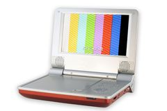 DVD机质量差屏幕 免版税库存图片