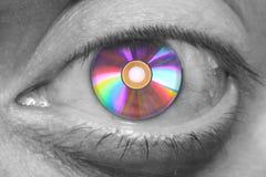 DVD眼睛 库存图片