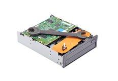 Dvd磁盘驱动器和板钳 库存照片