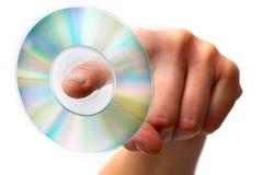dvd χέρι που κρατά ενός Στοκ Εικόνες