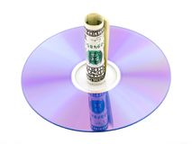 dvd доллара счета Стоковая Фотография