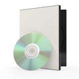 Dvd или диск и случай компактного диска иллюстрация вектора