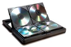 dvd компактного диска случая Стоковое Изображение RF