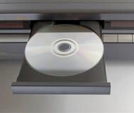 Dvd компактного диска в подносе Стоковое Изображение RF