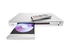DVD-плеер выкидывая диск с isola дистанционного управления Стоковая Фотография RF