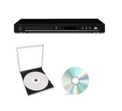 DVD-плеер с диском компактного диска Стоковое Изображение RF