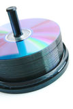 DVD. Close up of a stand with DVD Royalty Free Stock Photo