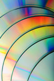 DVD. Rainbow colors on some DVD Royalty Free Stock Images