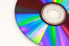 DVD. Closeup of DVD on white background Royalty Free Stock Images