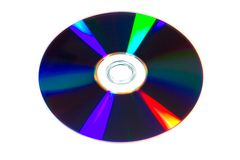 DVD. On the white background royalty free stock photo