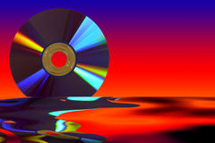 Dvd. Abstract background with abstact form Stock Photography
