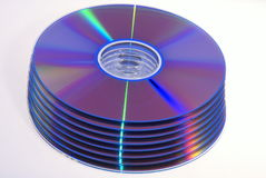 DVD. Disc on white background Stock Image