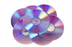 DVD. Isolated on white background Stock Photos