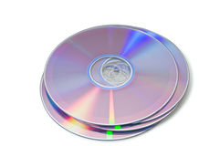 DVD. Isolated on white background Stock Images