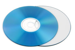 DVD. Colorful DVD disks isolated over a white background stock photos