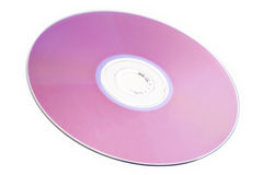 DVD. Colorful DVD disks isolated over a white background stock photography