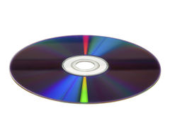 DVD. At a slight angle isolated on a white background stock image