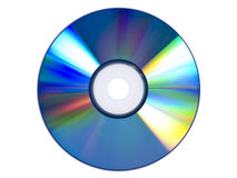 DVD. A DVD isolated over white background stock photography