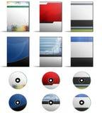 DVD-Abdeckungs-Satz Lizenzfreie Stockfotos