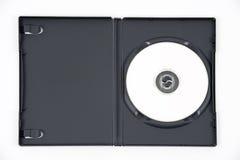DVD bianco nel caso aperto fotografia stock