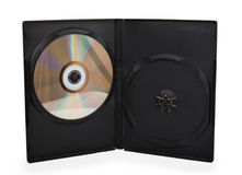 Dvd in black case Royalty Free Stock Photos