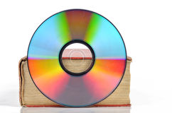 DVD and book Stock Photo