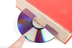 DVD and book Royalty Free Stock Photography