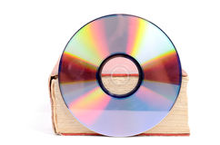 DVD and book Royalty Free Stock Photos