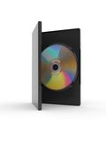 DVD box. On a white background Stock Image