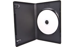 DVD and box Royalty Free Stock Photo