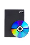 DVD box with CD-DVD disk Royalty Free Stock Photography