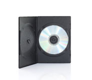 Dvd boxes with disc on white background Royalty Free Stock Image