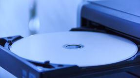 DVD branco Fotografia de Stock Royalty Free