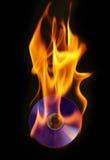 DVD burning Royalty Free Stock Image