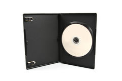 Dvd case. Isolated on white background stock photography