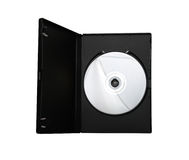 DVD in case. On a white bg royalty free stock images