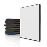 DVD Case. 3d dvd case with blank cover royalty free illustration