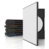 DVD Case. 3d dvd case with blank cover and label stock illustration