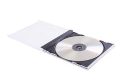DVD case. Isolated on a white background royalty free stock photos
