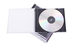 DVD case. Isolated on a white background stock photo
