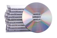 DVD case. Isolated on a white background royalty free stock photography
