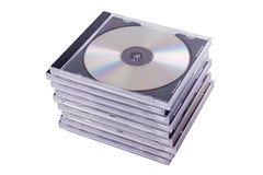 DVD case. Isolated on a white background stock images