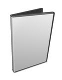 DVD case. Blank DVD case on white Royalty Free Stock Image