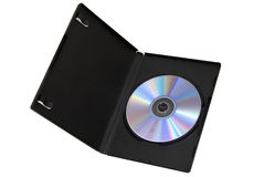 DVD. Case with cd inside with colour royalty free stock photo