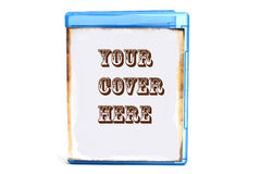 Dvd case with cover. Blue DVD case, you can insert your own cover or text stock images